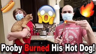 Pooby BURNED His Hot Dog!!! *BTS*