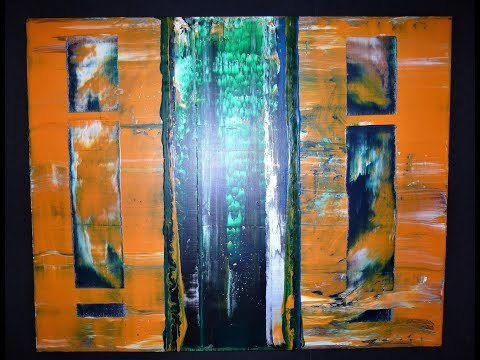 ABSTRACT ACRYLIC PAINTING * SQUEEGEE TECHNIQUE * PROJECT 202