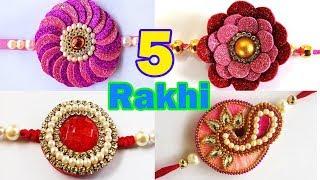 5 Easy Handmade Rakhi for 2019 - How to Make Easy Rakhi at Home - घर पे कैसे राखी बनायें 2019