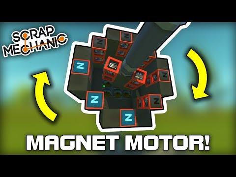 """Magnet Powered """"Real"""" Electric Motors! (Scrap Mechanic #287)"""