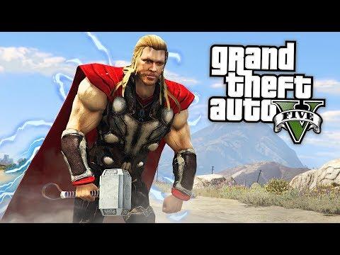 GTA 5 Mods - THOR MOD w/ THOR'S HAMMER & POWERS!! GTA 5 Thor Mod Gameplay! (GTA 5 Mods Gameplay)
