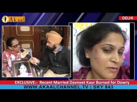 Recent Married Davneet Kaur Burnt for Dowry @ Delhi