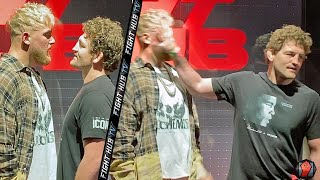 BEN ASKREN SMACKS & FACEPALMS JAKE PAUL DURING FACE OFF! PUNKS HIM AT LAS VEGAS PRESSER