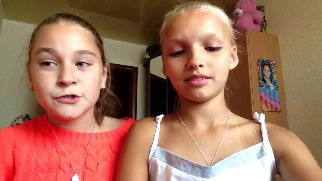 Katya and Karina-первое видео