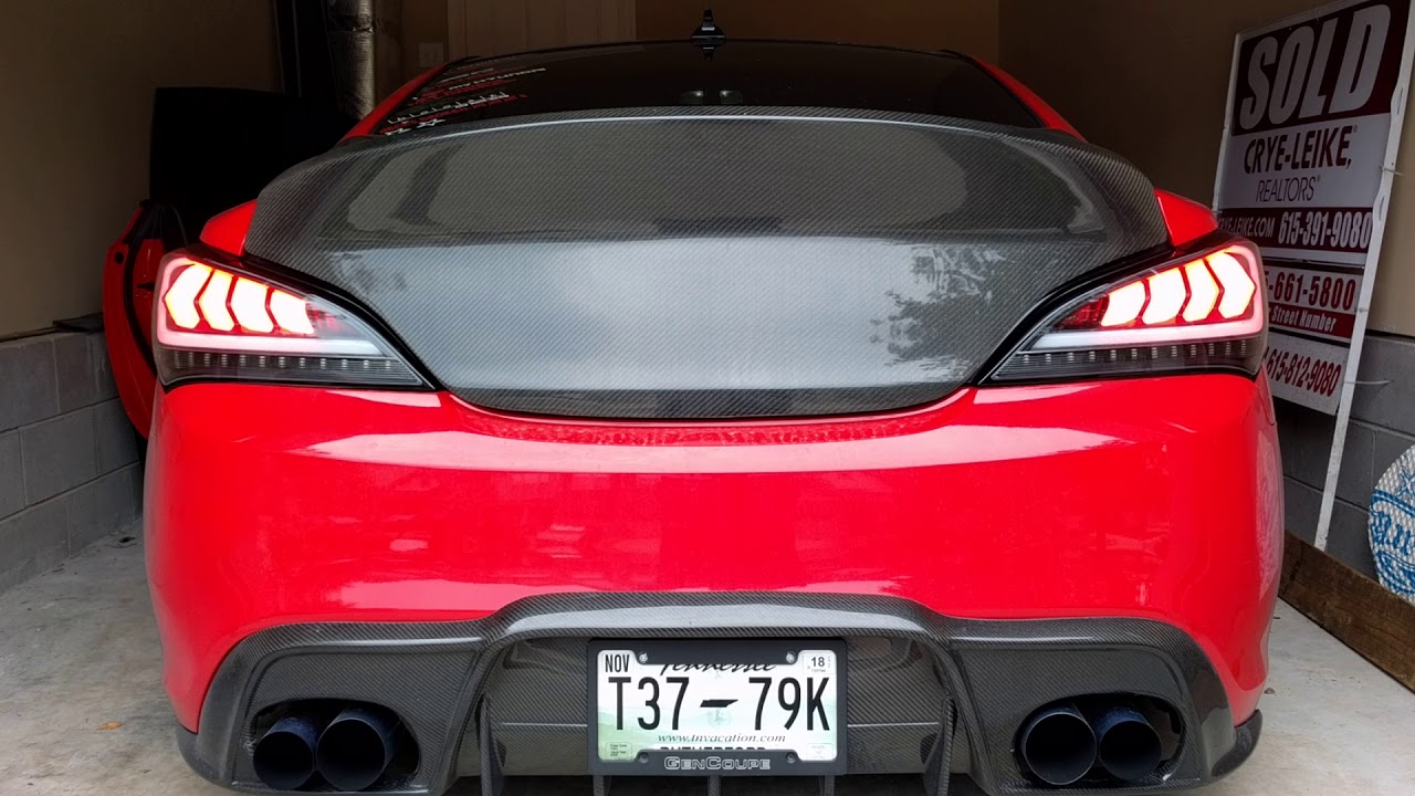 Hyundai Genesis Coupe Spec D Led Tail Lights Matte Black White