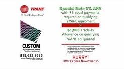 Financing Options & Rebates | Trane Promotions | 918-622-8686