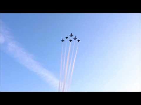Super Bowl 51 2017 USAF Thunderbirds Flyby Compilation NRG Stadium Houston Texas