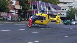 Felszáll a mentőhelikopter Pécsről