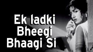 Download Lagu Ek Ladki Bhigi Bhagi Si Chalti Ka Naam Gaadi Songs Kishore Kumar Madhubala Rain Song MP3
