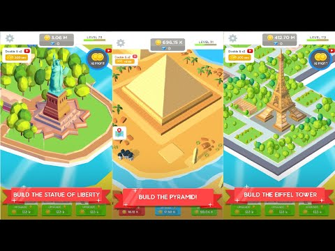 Idle Landmark Tycoon - Builder Game Android Gameplay