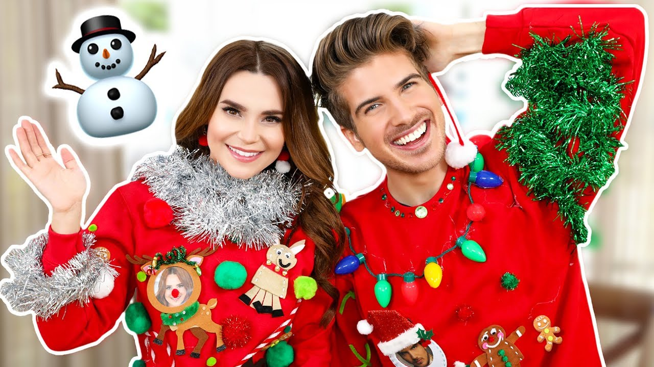 Ugly Sweater Challenge Ft Joey Graceffa Youtube