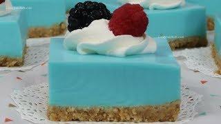 Postrecitos Gelatina de Refresco Blueberry Cremosita - Recetas en Casayfamiliatv