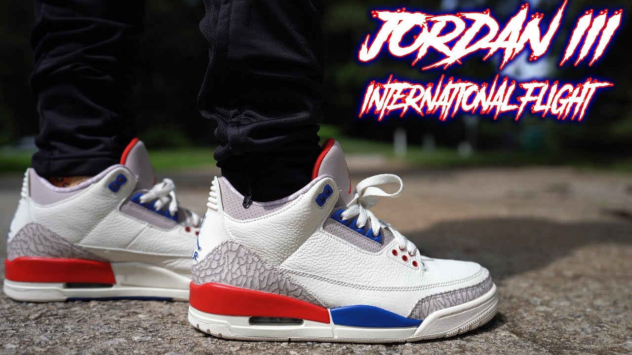 2b9b45830b79 AIR JORDAN 3 INTERNATIONAL FLIGHT CHARITY GAME REVIEW AND ON FEET ...