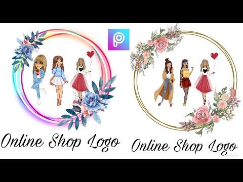 Cara membuat Logo/watermark online shops. IG - @harurina88 FB - Lina Na logo online shop baju logo o.