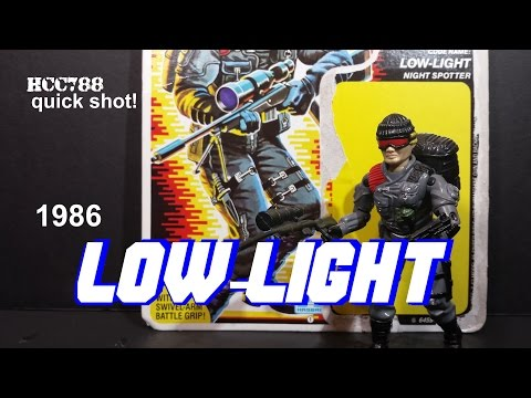 HCC788 quick shot! 1986 LOW-LIGHT! Vintage G.I. Joe toy!
