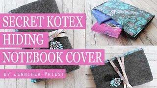 Diy Secret Compartment Notebook Cover   Hide Your Kotex #sponsored