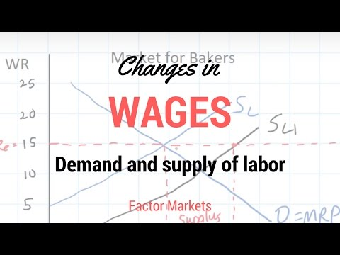 Labor Markets - Change in in Equilibrium Wage Rate and Level