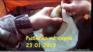 Рыбалка на окуня в январе. Казахстан. Кокшетау. Ивановка