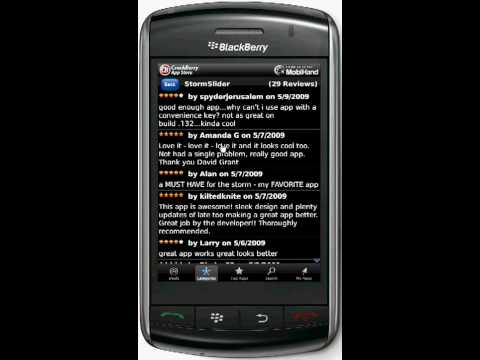 MobiHand BlackBerry App Store Showcase Video 1