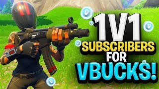 🔴 BEAT ME In a 1v1 FOR VBUCKS! w/ Subscribers (Free Vbucks) - Fortnite Battle Royale