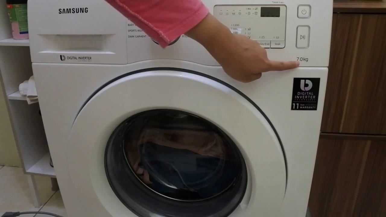 cara termudah tutorial cara menggunakan mesin cuci samsung front load
