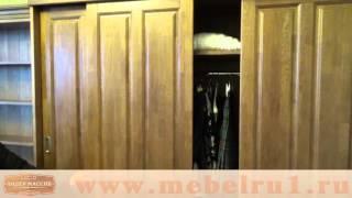 видео Шкафы из натурального дерева