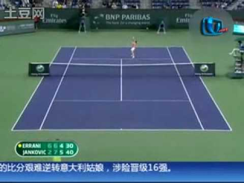 Jelena Jankovic vs Sara Errani Indian Wells 2010 Highlights.avi