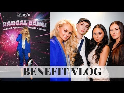 Benefit Vlog // SPACE CENTRE?!?! // BadGal Bang Mascara Launch // My first Youtube event