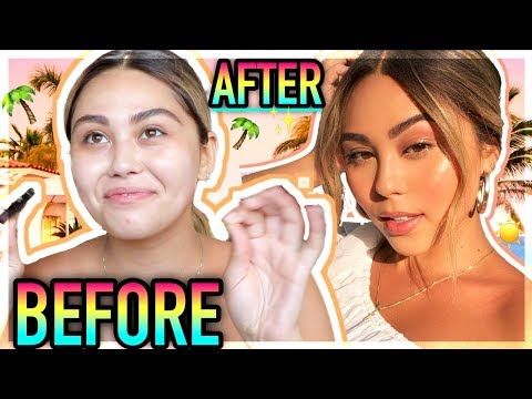 GLOWY SUMMER MAKEUP GRWM in CABO!🌴 Roxette Arisa thumbnail