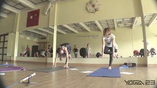 Фрагменты видео «Разминочные комплексы для самостоятельной практики йоги»