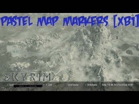 Skyrim SE Xbox One Mods|Pastel Map Markers [XB1] - YouTube
