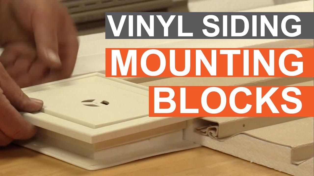 Tip Of The Week Using Vinyl Siding Mounting Blocks Youtube