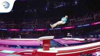 Tetiana MOKLIAK (UKR) - 2018 Artistic Gymnastics Europeans, junior qualification vault