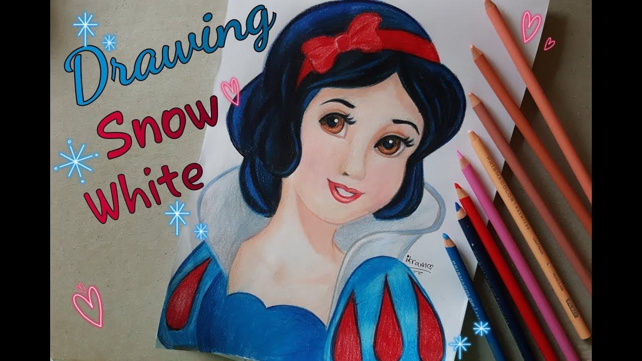 how to draw color snow white disney princess prismacolor pencils