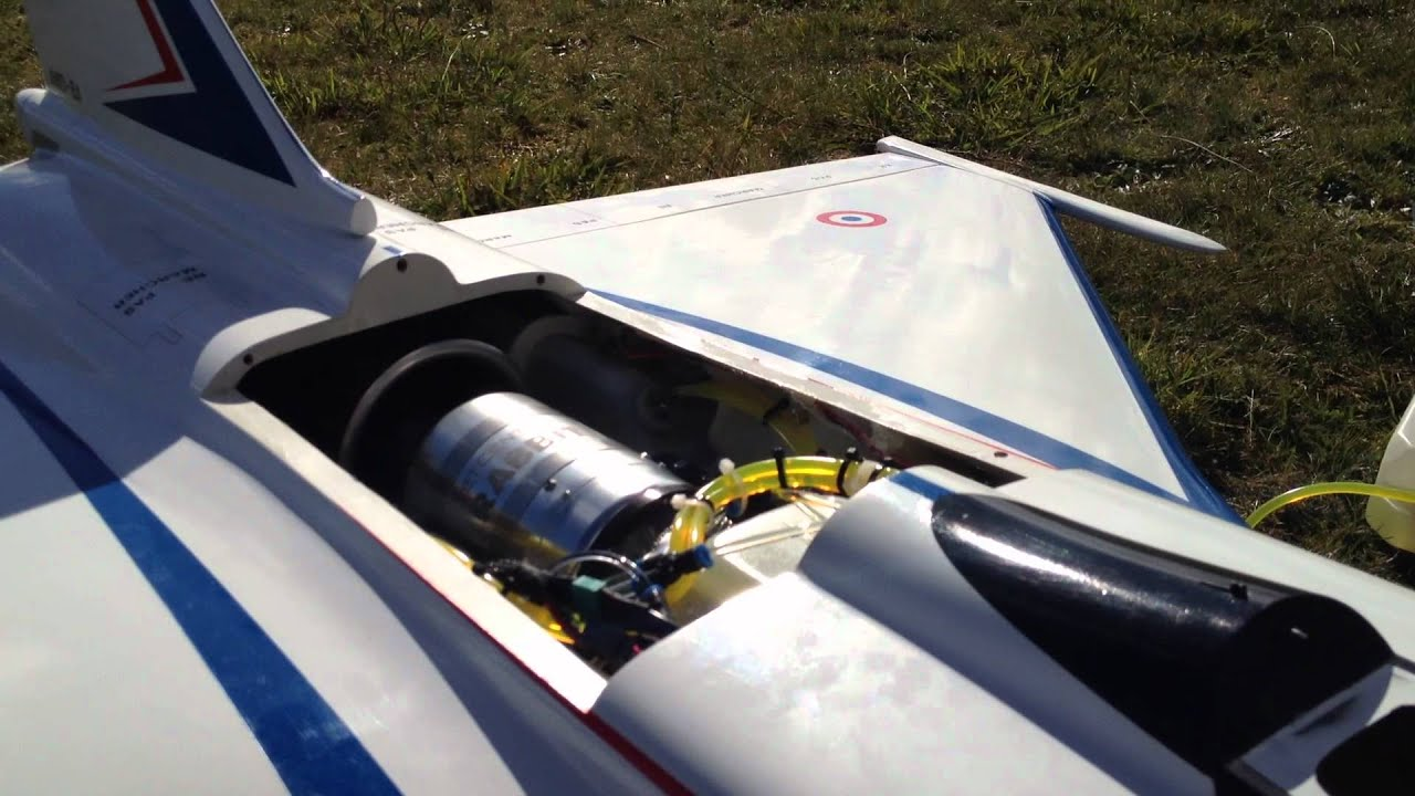 Rabbit 100 Jet Turbine Starting Up in a Rafale Scale RC ...