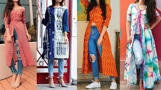 Long Kurti Design for Women with Jeans | Latest Jeans Kurti Designs | Jeans Kurti Design 2019