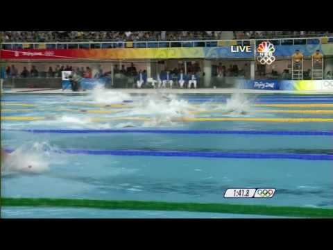 2nd Gold [2008 Beijing Olympics] Swimming Men's 4 x 100m Freestyle Relay.mp4
