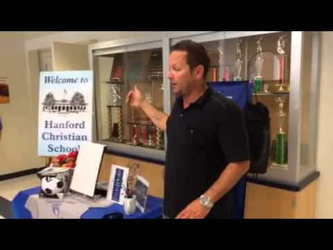 Bryan Taylor speaks at Hanford Christian School