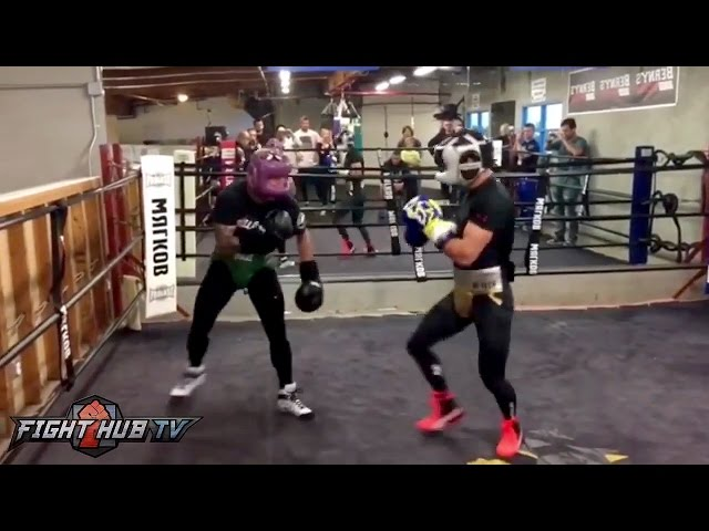 MMA vs Boxing! TJ Dillashaw vs. Vasyl Lomachenko GO AT IT IN SPARRING! VIDEO!