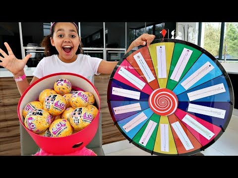 1 SPIN = 2 TOYS!! SPIN WHEEL CHALLENGE   LOL Surprise Dolls   Toys AndMe