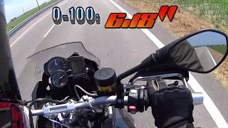 2015 BMW F 700 GS 0-200 acceleration & top speed
