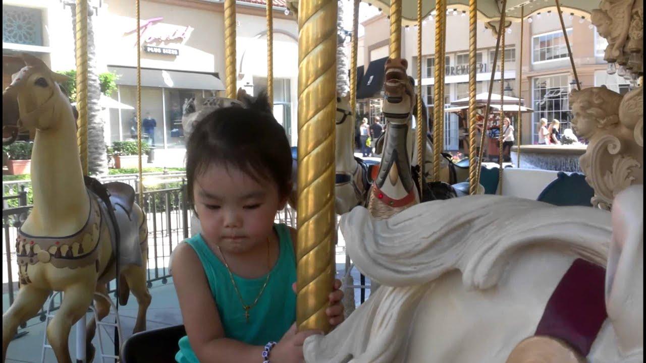 Avelena on the carousel - YouTube