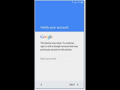 Solution] Device was reset  Sign in with Google Account that