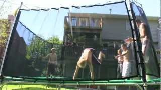 Triple Frontflip on Trampoline *NO DOUBLE BOUNCE*