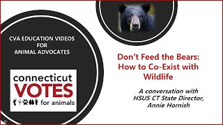 CVA Education Videos for Animal Advocates - Episode 1: Don't Feed the Bears