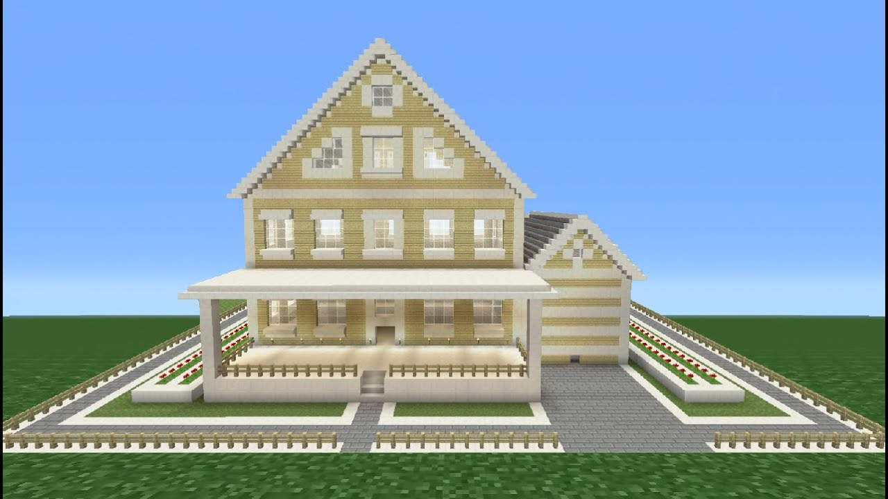 Minecraft Tutorial How To Make A Suburban House  6  YouTube