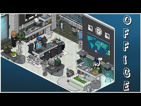 Despacho oficina moderna habbo construcci n youtube for Casa moderna habbo