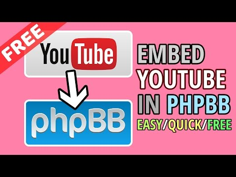 Embed YouTube Videos in phpBB with BBCode NO EXTENSION NEEDED