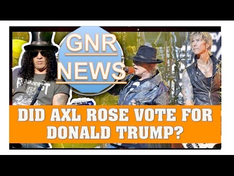 Guns N' Roses: Did Axl Rose Vote for Donald Trump?
