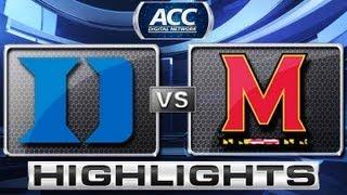 Duke vs Maryland Basketball Highlights 2/16/13